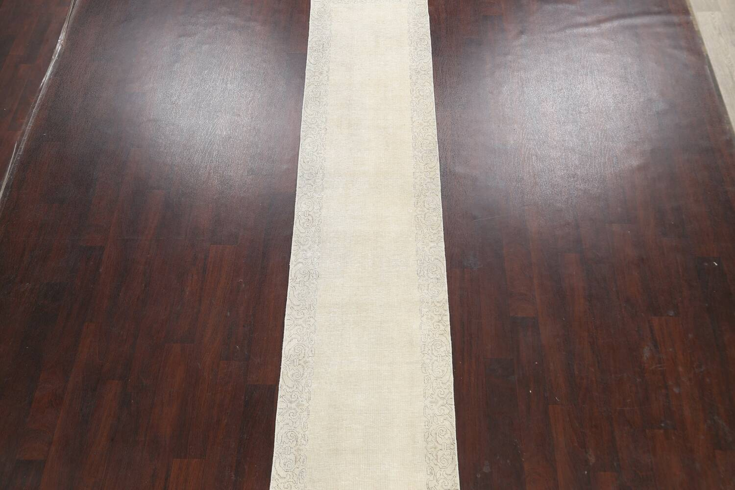 Muted Distressed Tabriz Persian Runner Rug 2x22 image 3
