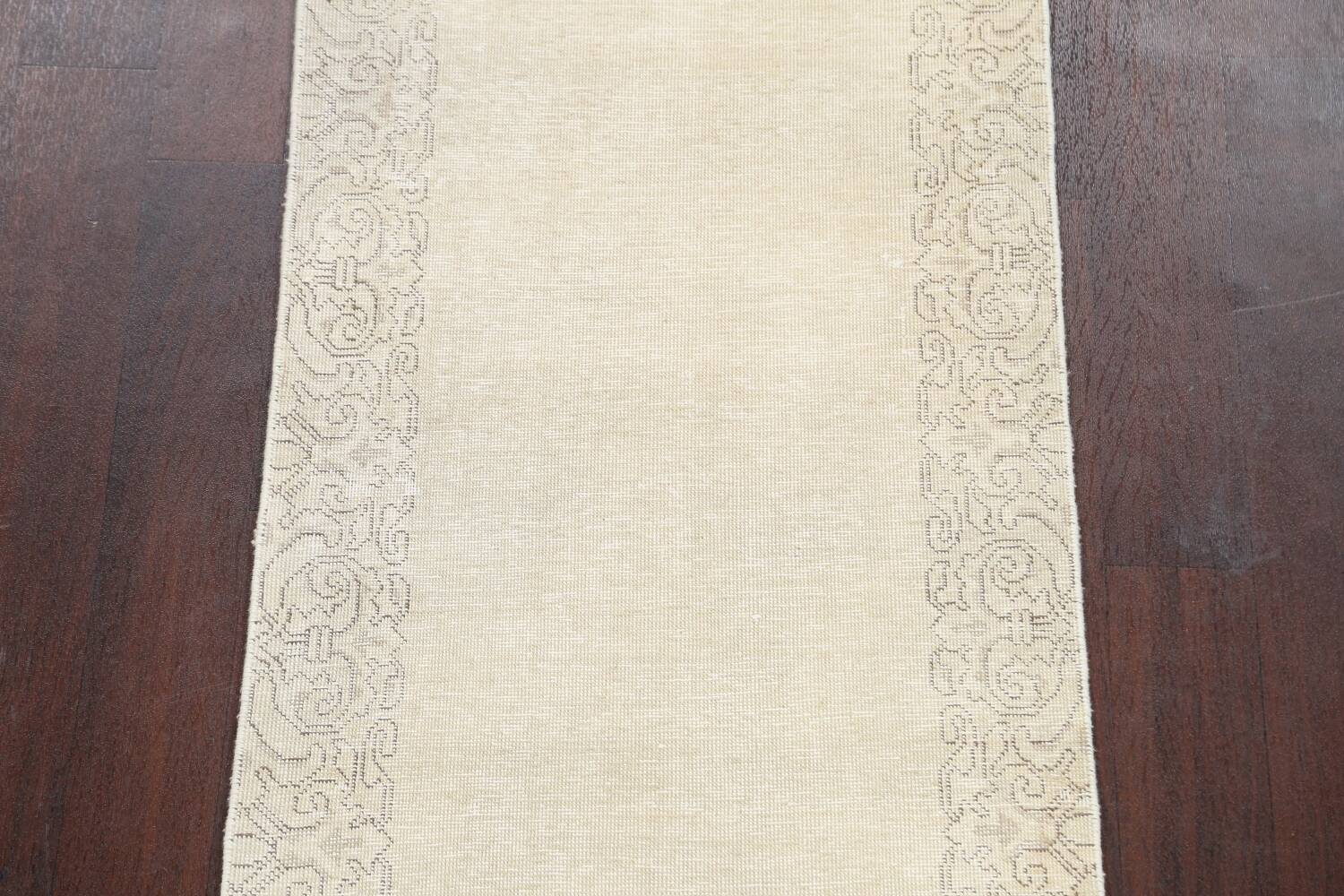 Muted Distressed Tabriz Persian Runner Rug 2x22 image 4