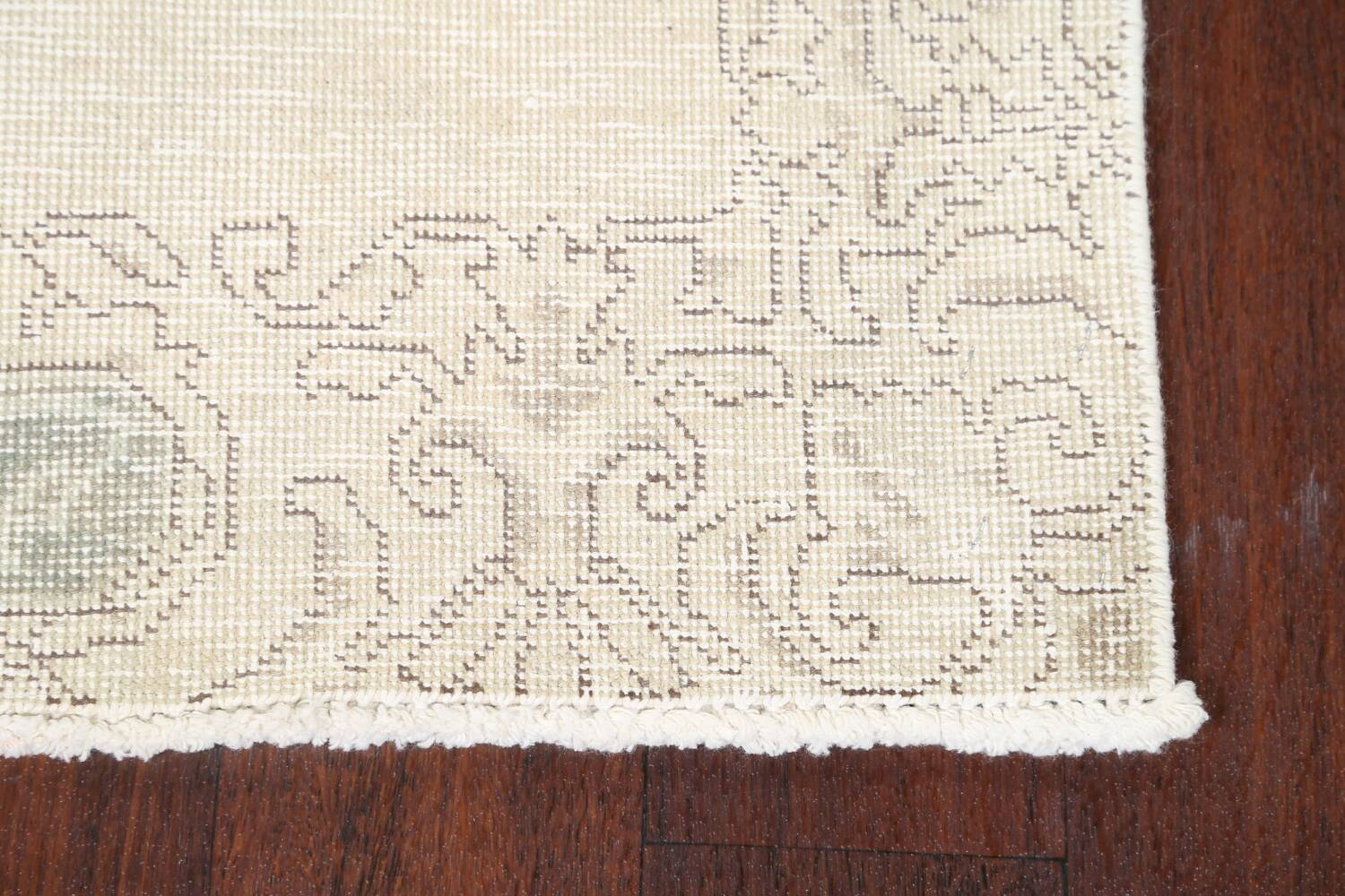 Muted Distressed Tabriz Persian Runner Rug 2x22 image 5
