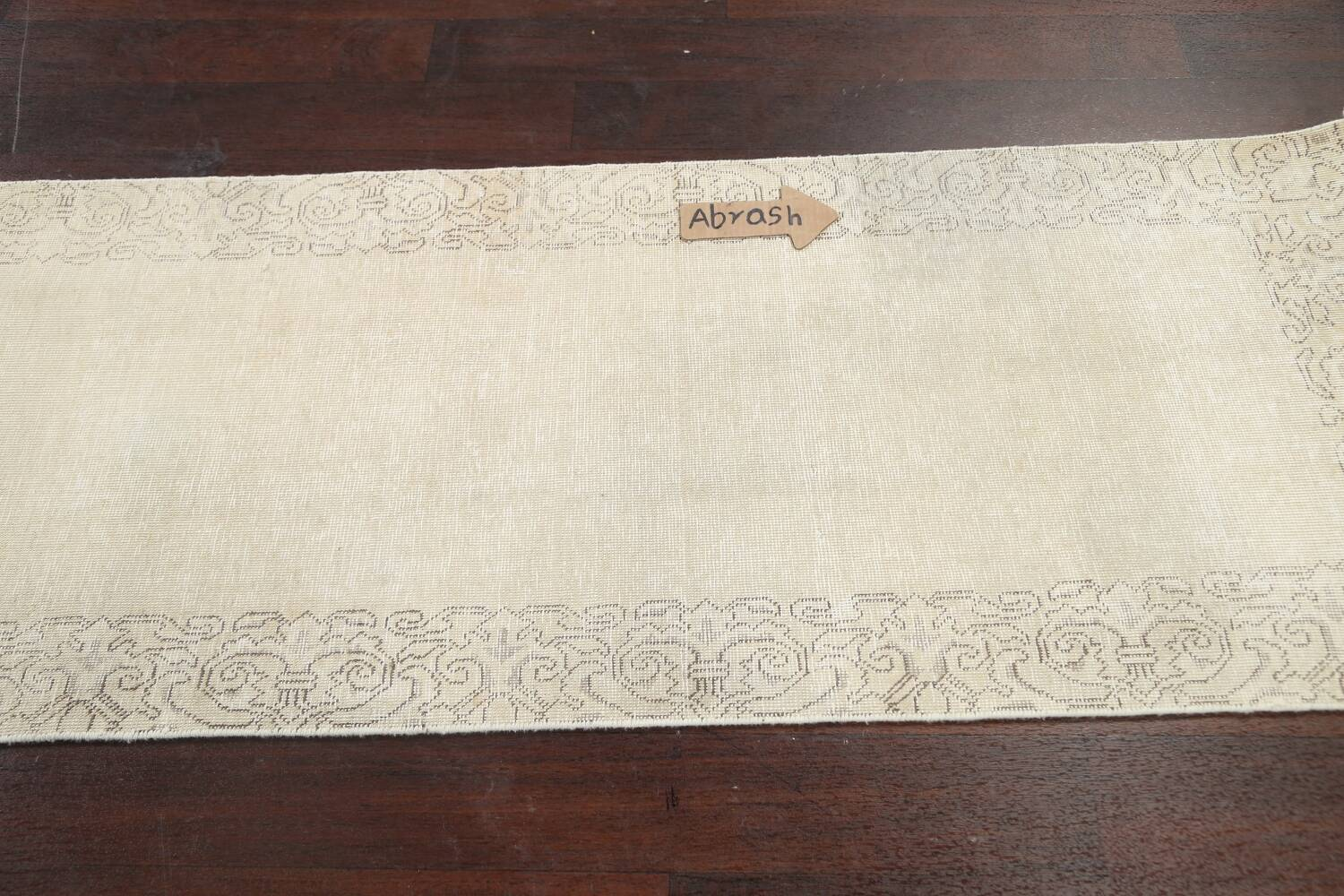 Muted Distressed Tabriz Persian Runner Rug 2x22 image 12