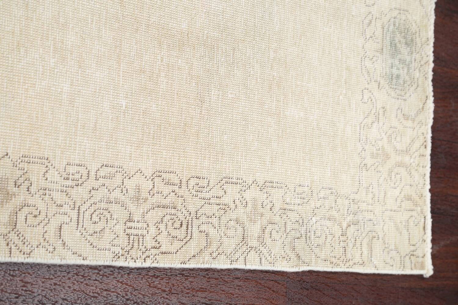 Muted Distressed Tabriz Persian Runner Rug 2x22 image 15