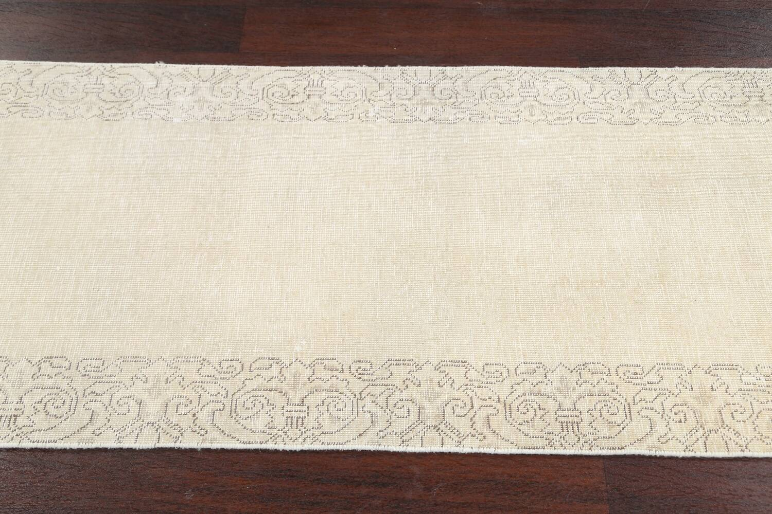 Muted Distressed Tabriz Persian Runner Rug 2x22 image 16