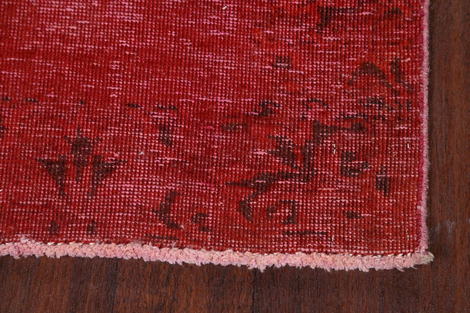 Over-dyed Red Tabriz Persian Runner Rug 3x16 image 5