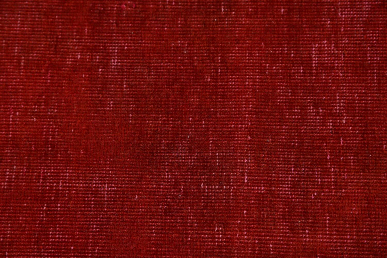 Over-dyed Red Tabriz Persian Runner Rug 3x16 image 9