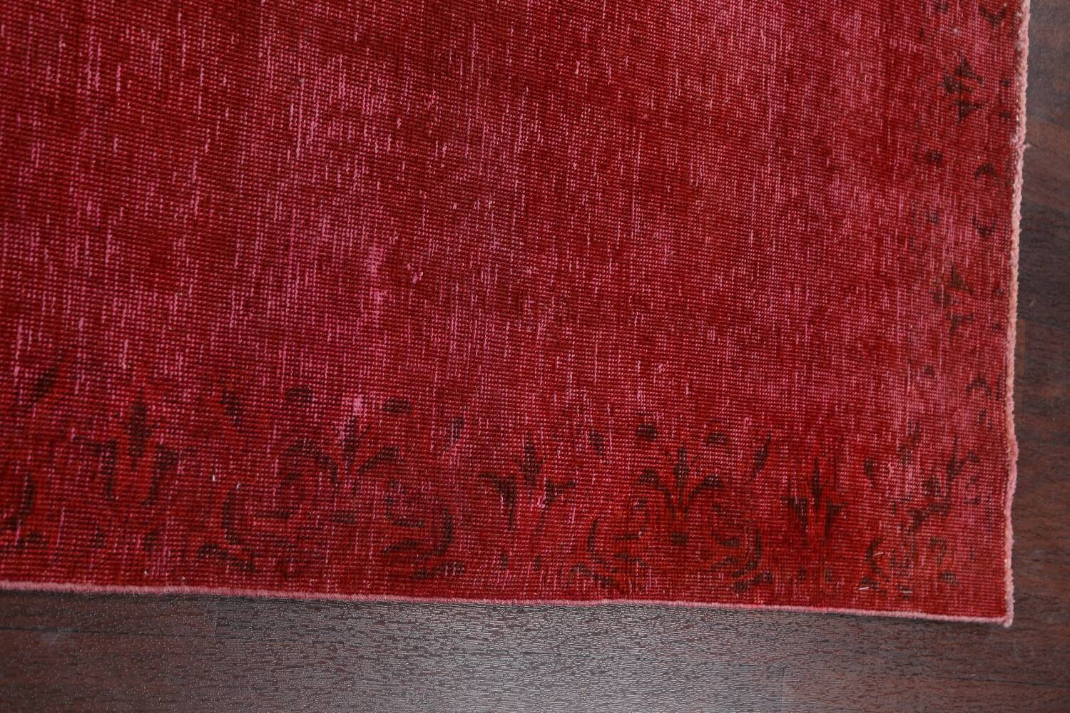Over-dyed Red Tabriz Persian Runner Rug 3x16 image 12