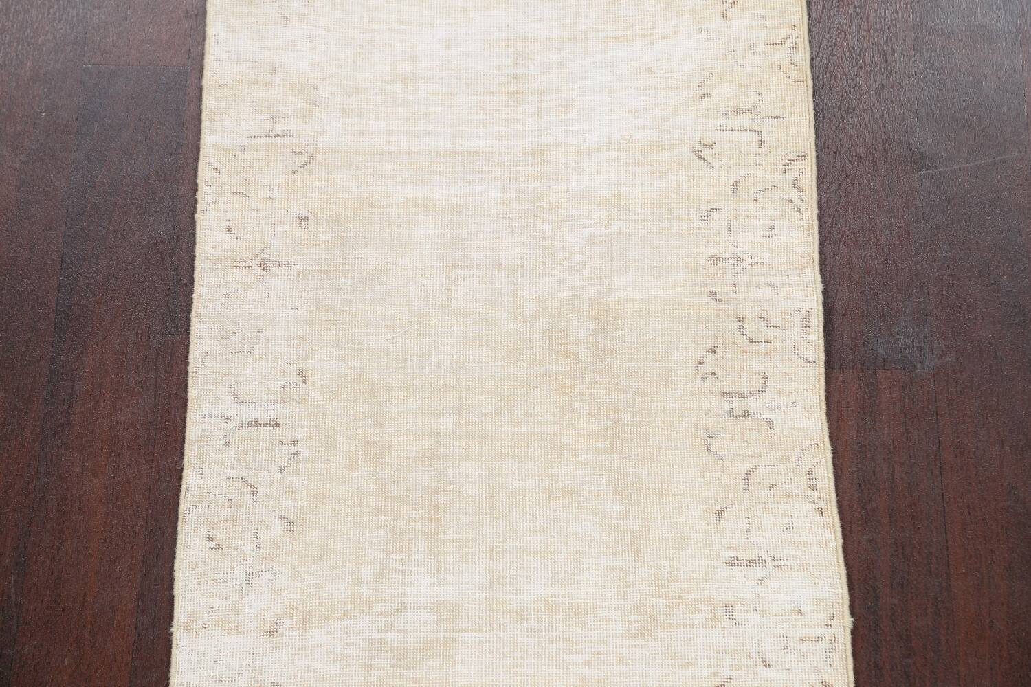 Muted Distressed Tabriz Persian Runner Rug 2x15 image 4