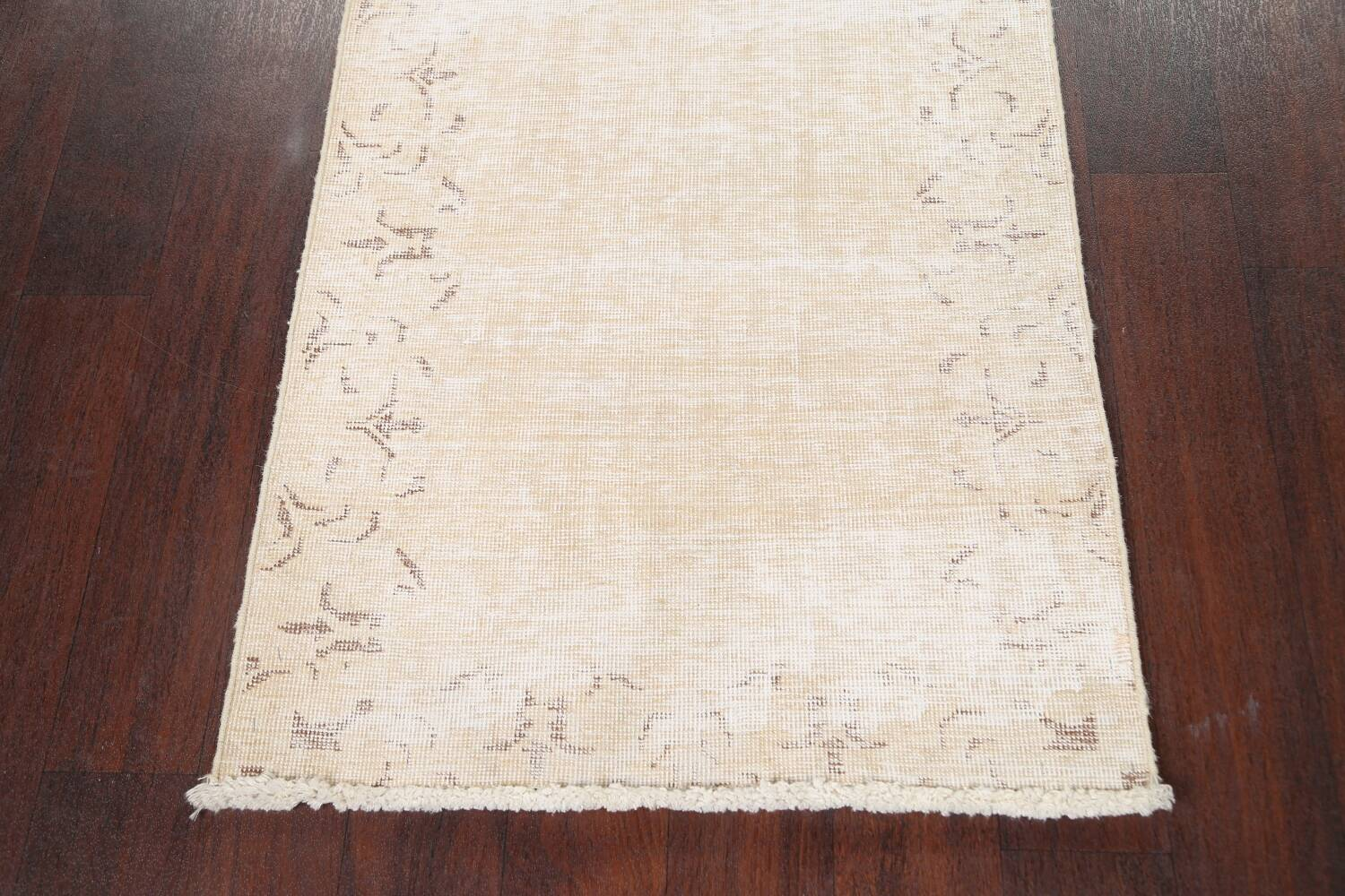 Muted Distressed Tabriz Persian Runner Rug 2x15 image 8