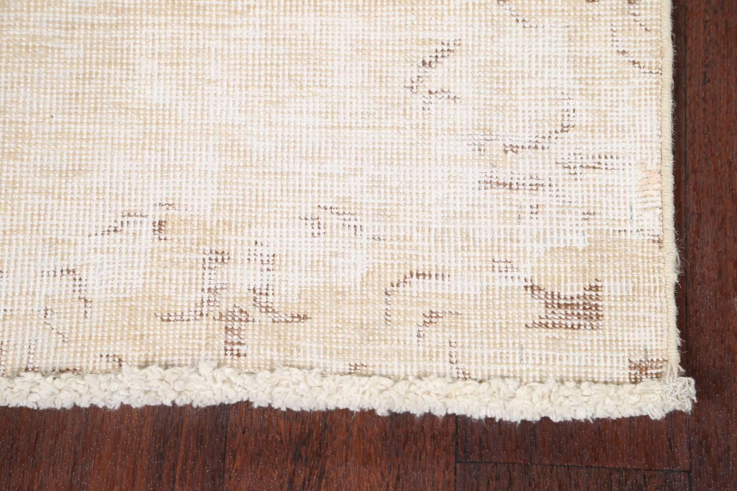 Muted Distressed Tabriz Persian Runner Rug 2x15 image 5