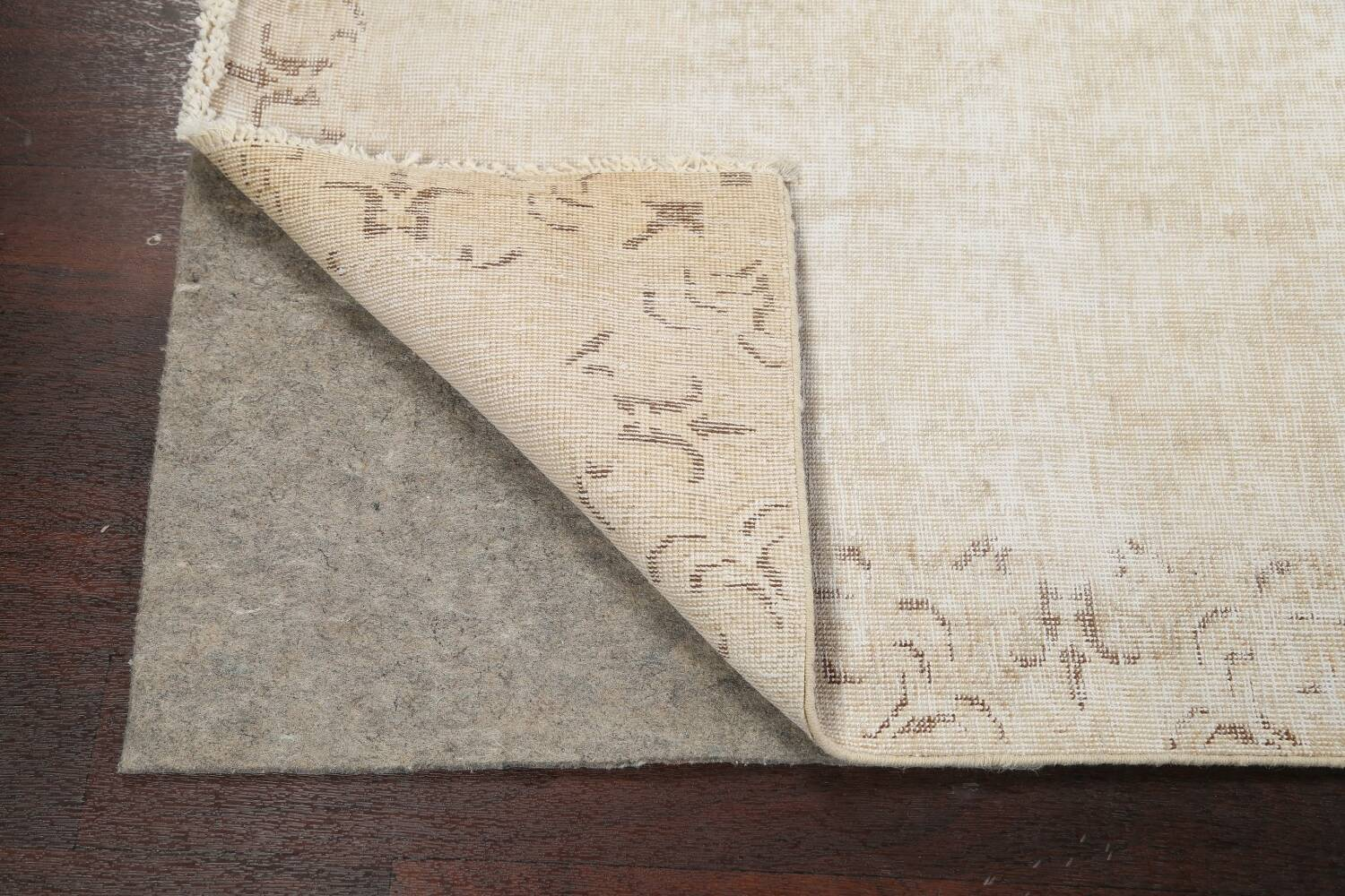 Muted Distressed Tabriz Persian Runner Rug 2x15 image 7