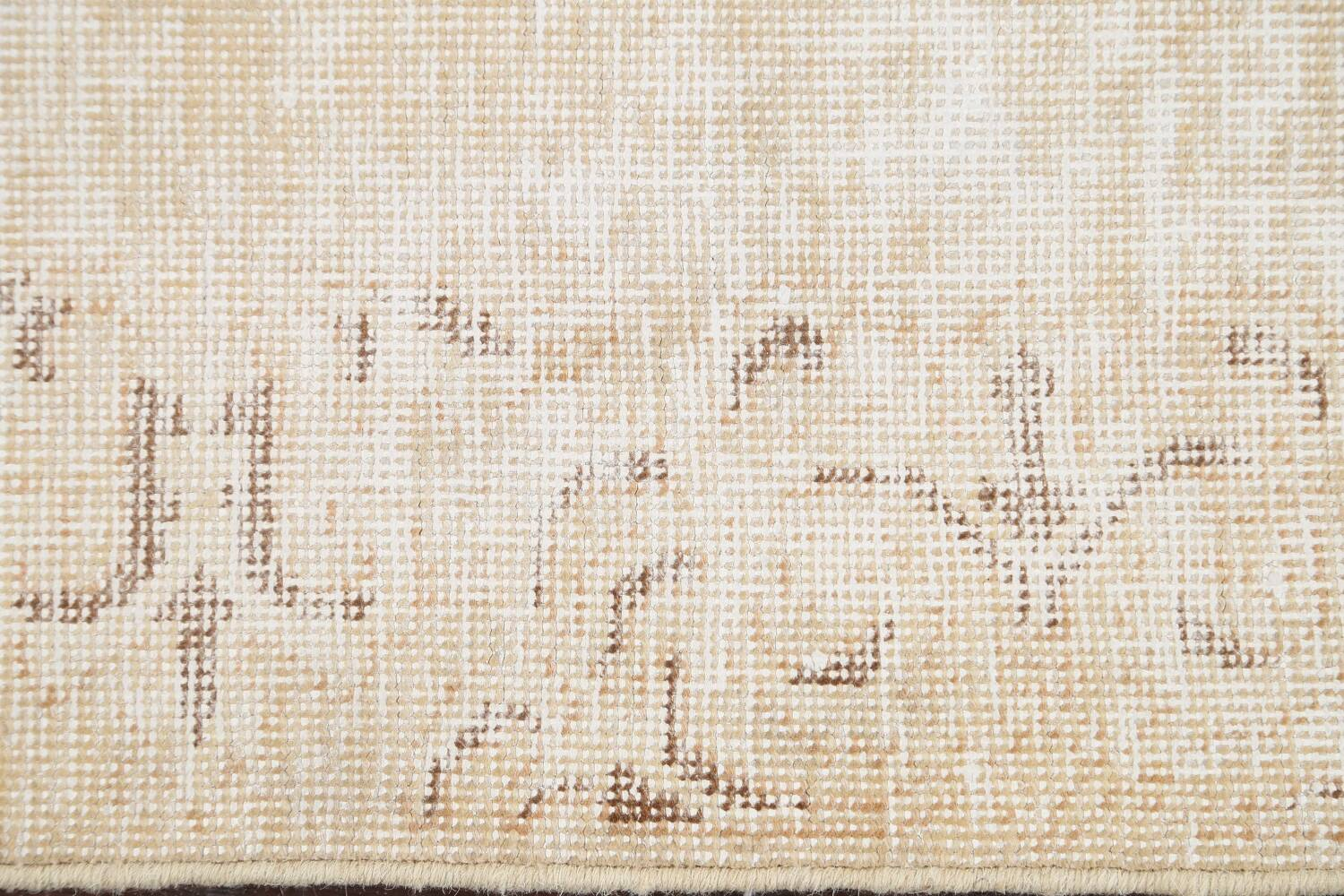 Muted Distressed Tabriz Persian Runner Rug 2x15 image 9