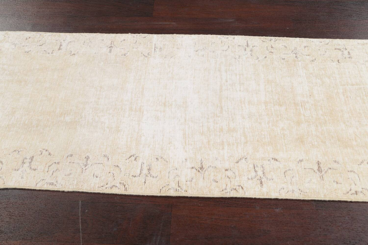 Muted Distressed Tabriz Persian Runner Rug 2x15 image 12