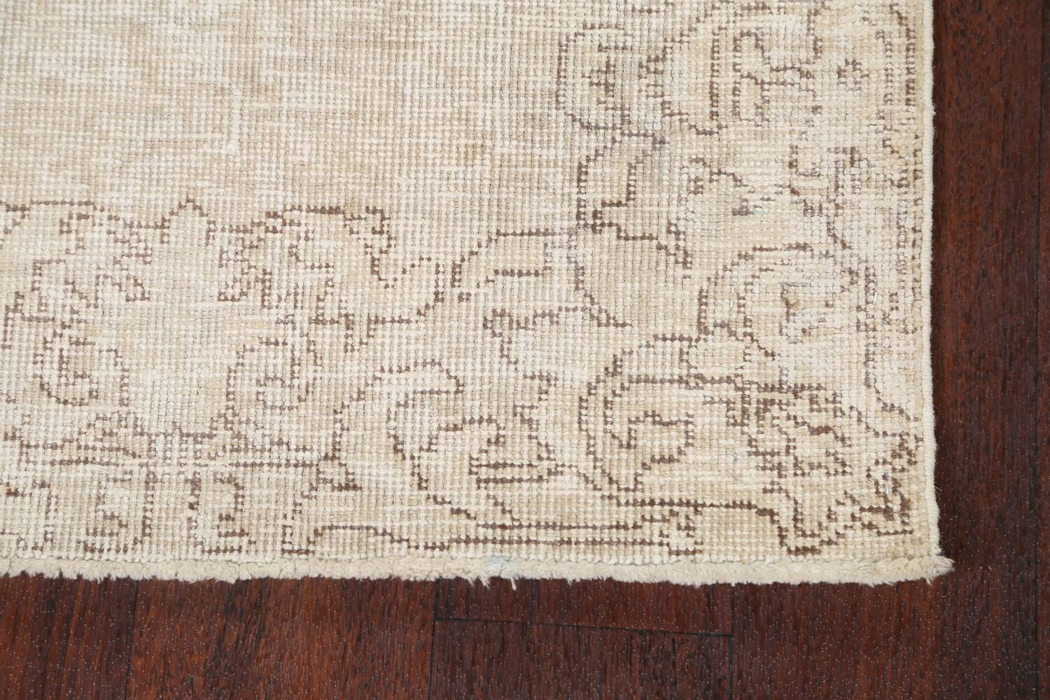 Muted Distressed Tabriz Persian Runner Rug 3x16 image 5