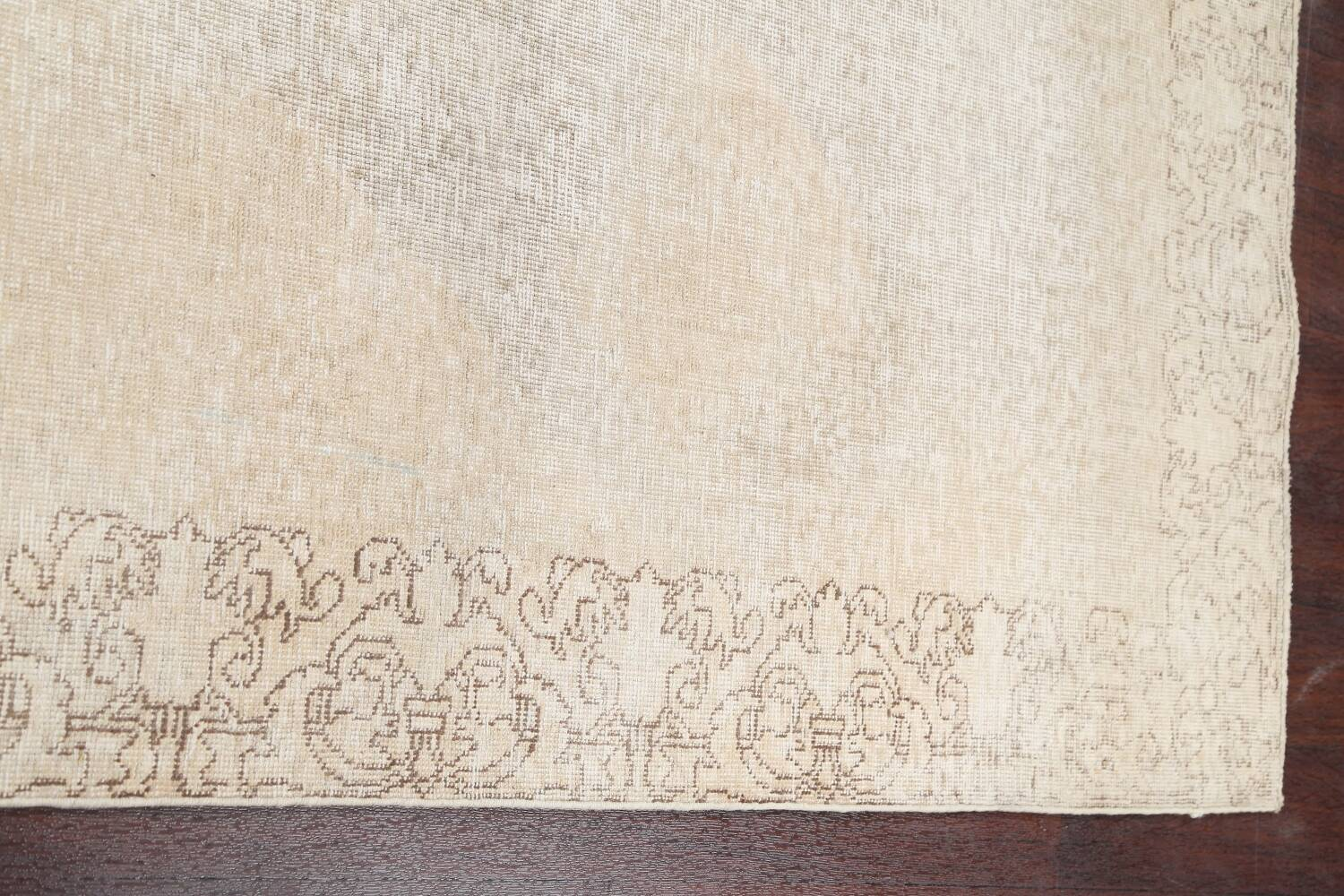 Muted Distressed Tabriz Persian Runner Rug 3x16 image 12