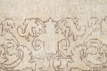 Muted Distressed Tabriz Persian Runner Rug 3x16 image 9