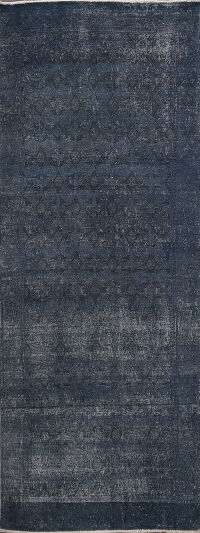 Distressed Over-dyed Kashmar Persian Runner Rug 3x9