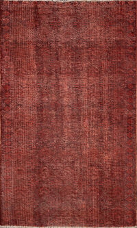 Distressed Over-dyed Tabriz Persian Area Rug 3x4