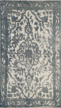 Distressed Floral Tabriz Persian Area Rug 3x5
