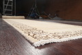 Muted Distressed Bordered Tabriz Persian Runner Rug 3x15 image 6