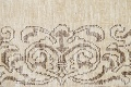 Muted Distressed Bordered Tabriz Persian Runner Rug 3x15 image 9
