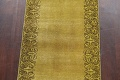 Over-dyed Bordered Tabriz Persian Runner Rug 3x15 image 4