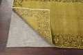 Over-dyed Bordered Tabriz Persian Runner Rug 3x15 image 7