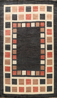 Checkered Gabbeh Kashkoli Oriental Area Rug 7x10