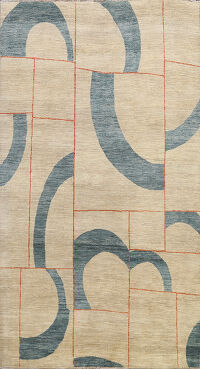 Abstract Gabbeh Kashkoli Oriental Area Rug 6x10