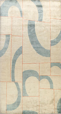 Abstract Gabbeh Kashkoli Oriental Area Rug 7x10