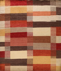 Checkered Gabbeh Kashkoli Oriental Area Rug 11x11 Square