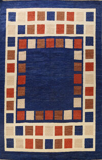 Checkered Gabbeh Oriental Area Rug 9x13