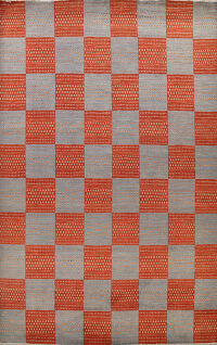 Checkered Gabbeh Kashkoli Oriental Area Rug 8x11