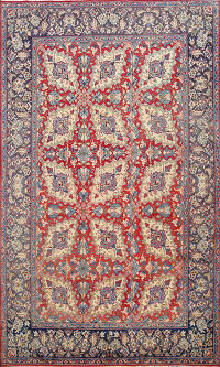 All-Over Floral Isfahan Persian Area Rug 7x9