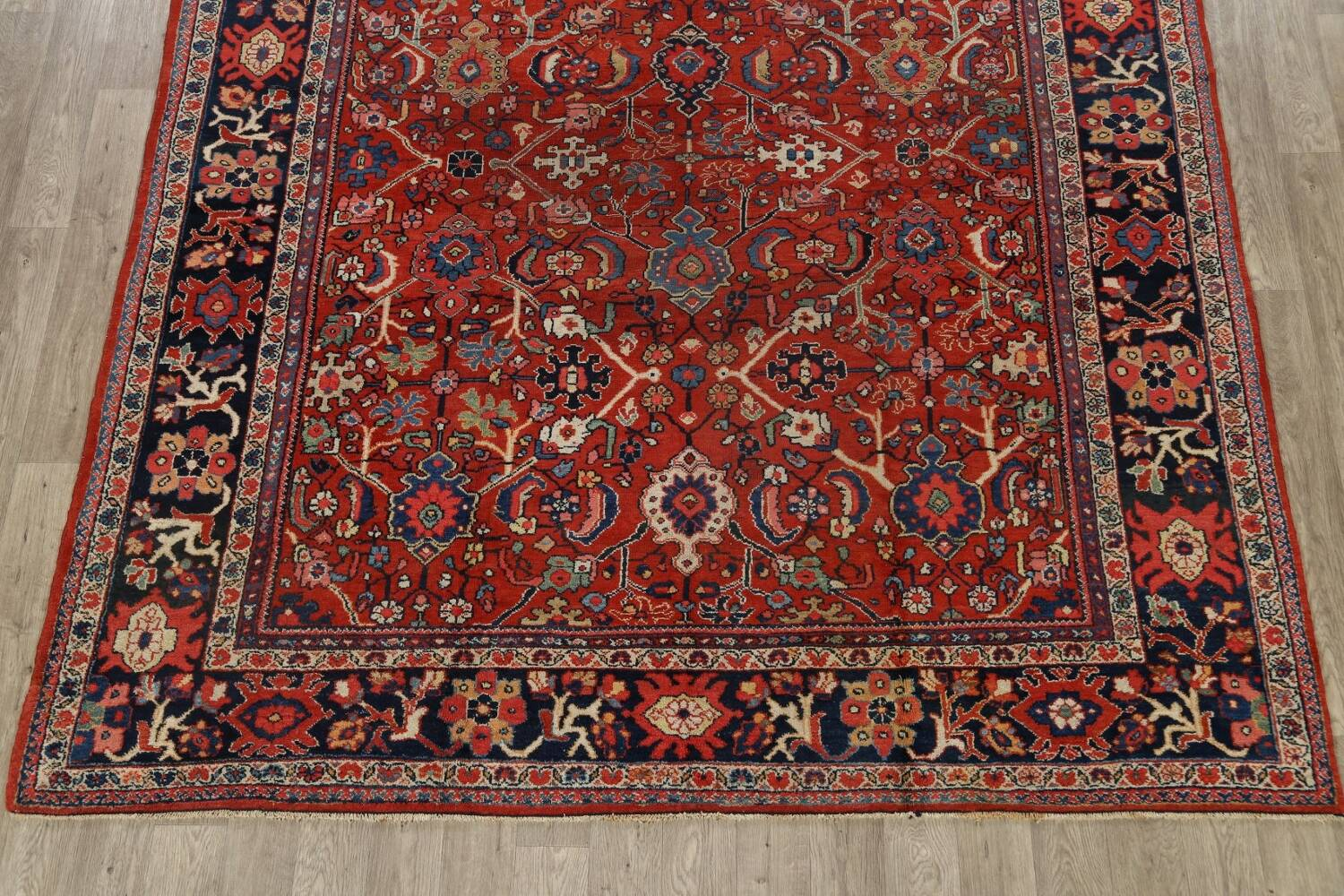 Antique Vegetable Dye Sultanabad Persian Area Rug 9x12 image 8