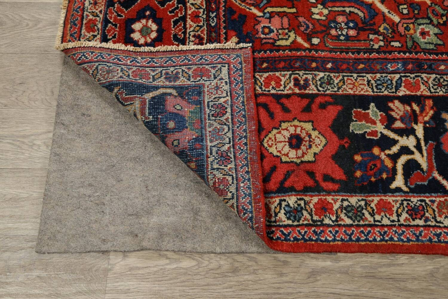 Antique Vegetable Dye Sultanabad Persian Area Rug 9x12 image 7