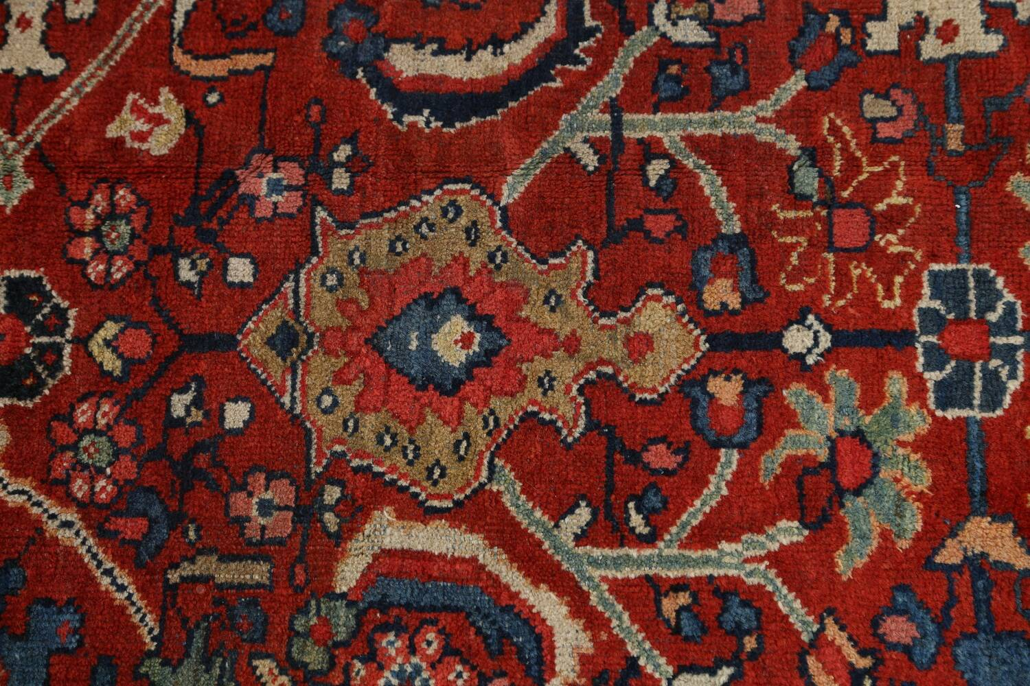 Antique Vegetable Dye Sultanabad Persian Area Rug 9x12 image 10