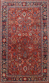 Antique Vegetable Dye Sultanabad Persian Area Rug 9x12 image 1