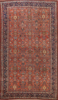 Pre-1900 Antique Vegetable Dye Sultanabad Persian Area Rug 10x14