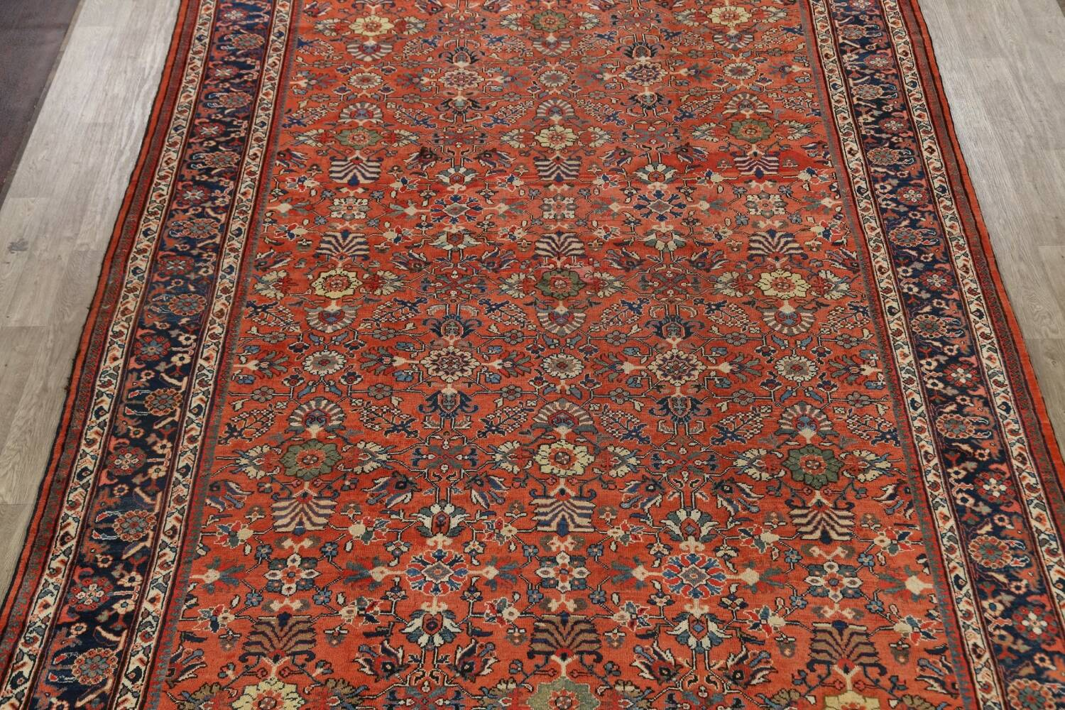 Pre-1900 Antique Vegetable Dye Sultanabad Persian Area Rug 10x14 image 3