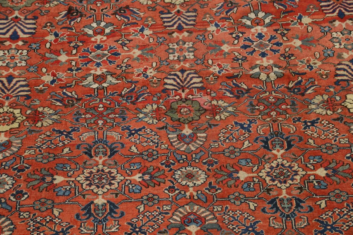 Pre-1900 Antique Vegetable Dye Sultanabad Persian Area Rug 10x14 image 4
