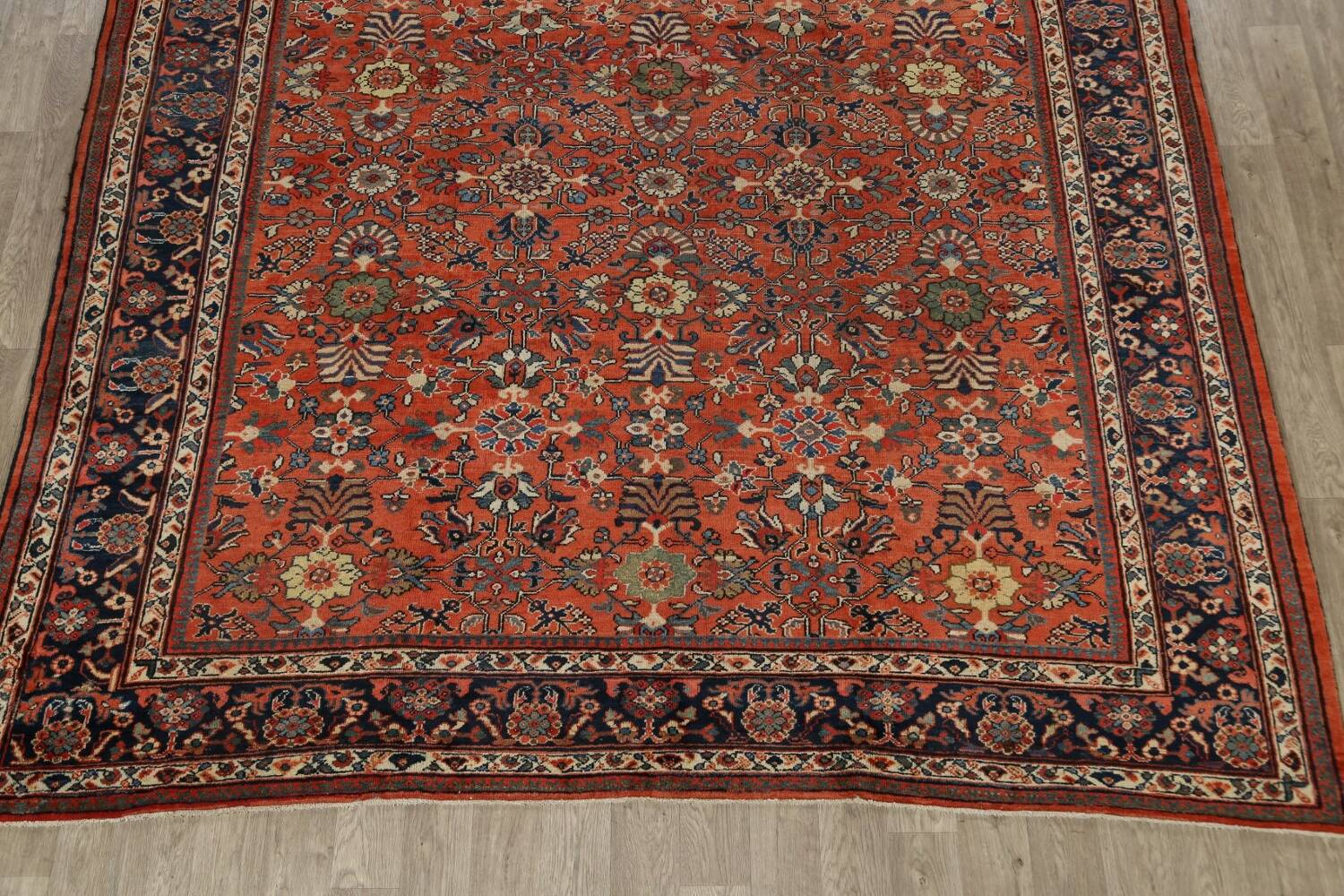 Pre-1900 Antique Vegetable Dye Sultanabad Persian Area Rug 10x14 image 8