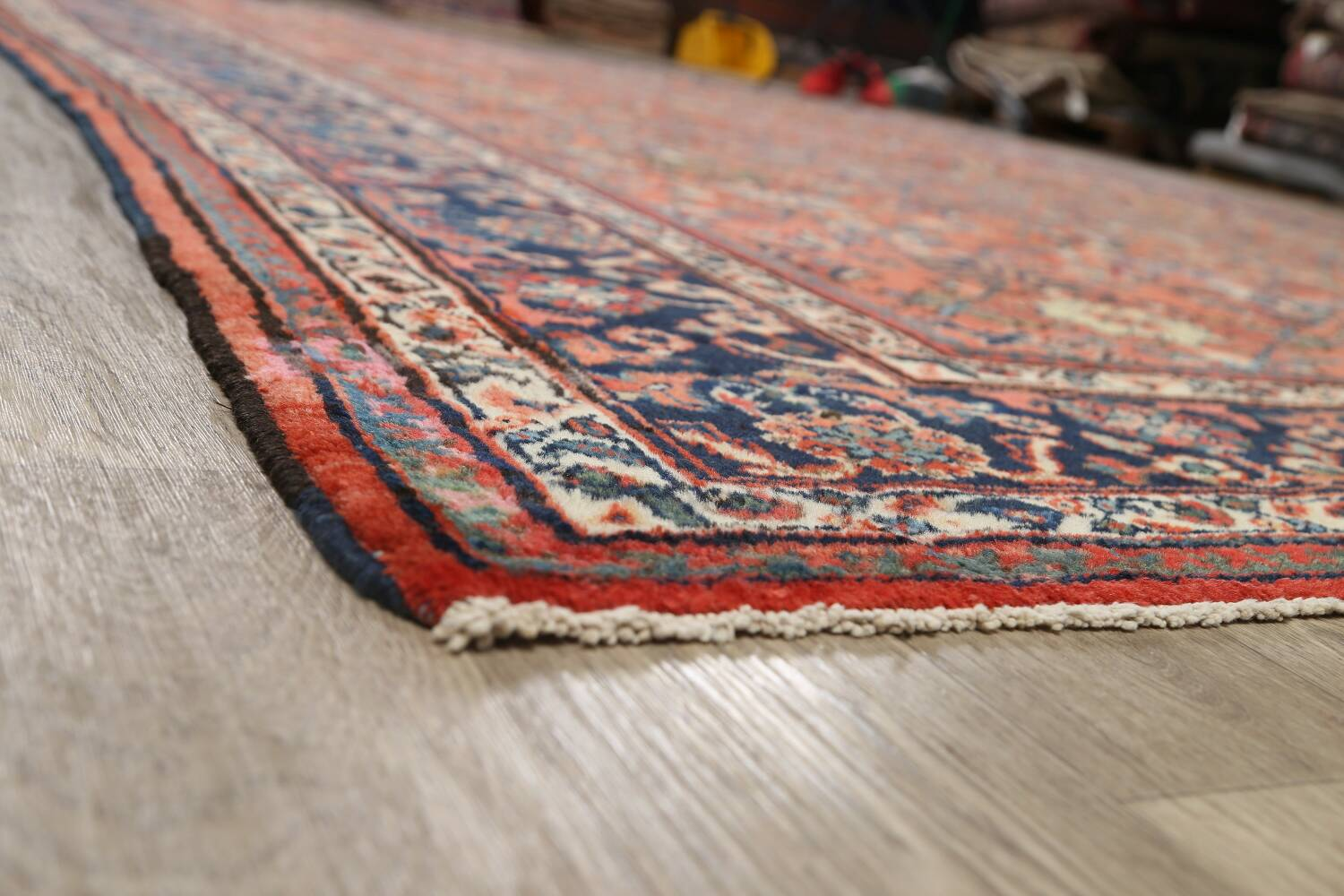Pre-1900 Antique Vegetable Dye Sultanabad Persian Area Rug 10x14 image 6