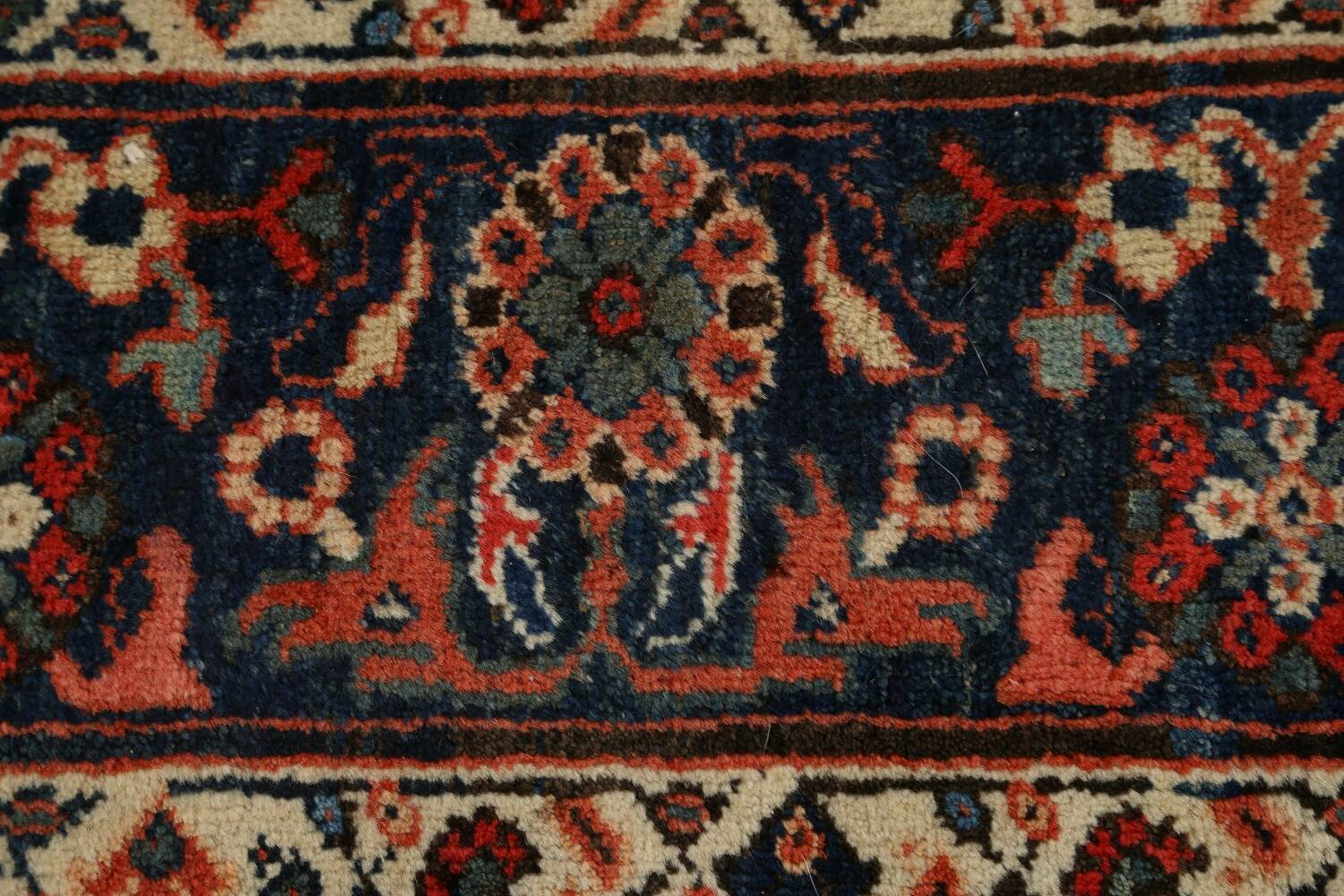 Pre-1900 Antique Vegetable Dye Sultanabad Persian Area Rug 10x14 image 9