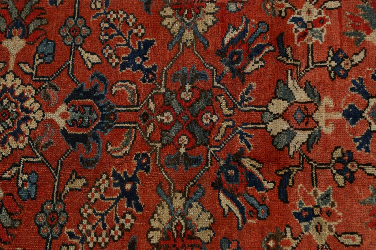 Pre-1900 Antique Vegetable Dye Sultanabad Persian Area Rug 10x14 image 11