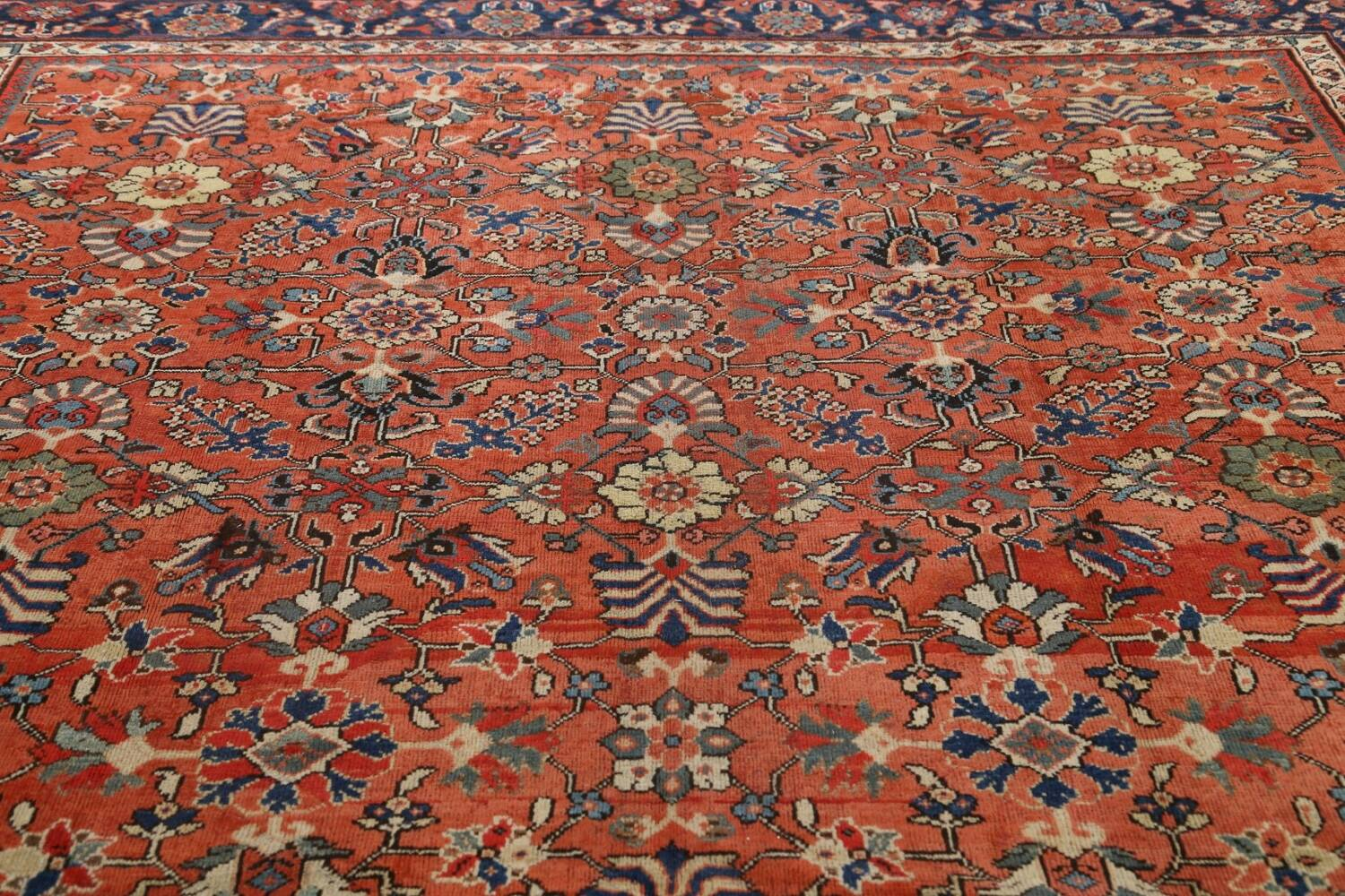 Pre-1900 Antique Vegetable Dye Sultanabad Persian Area Rug 10x14 image 12