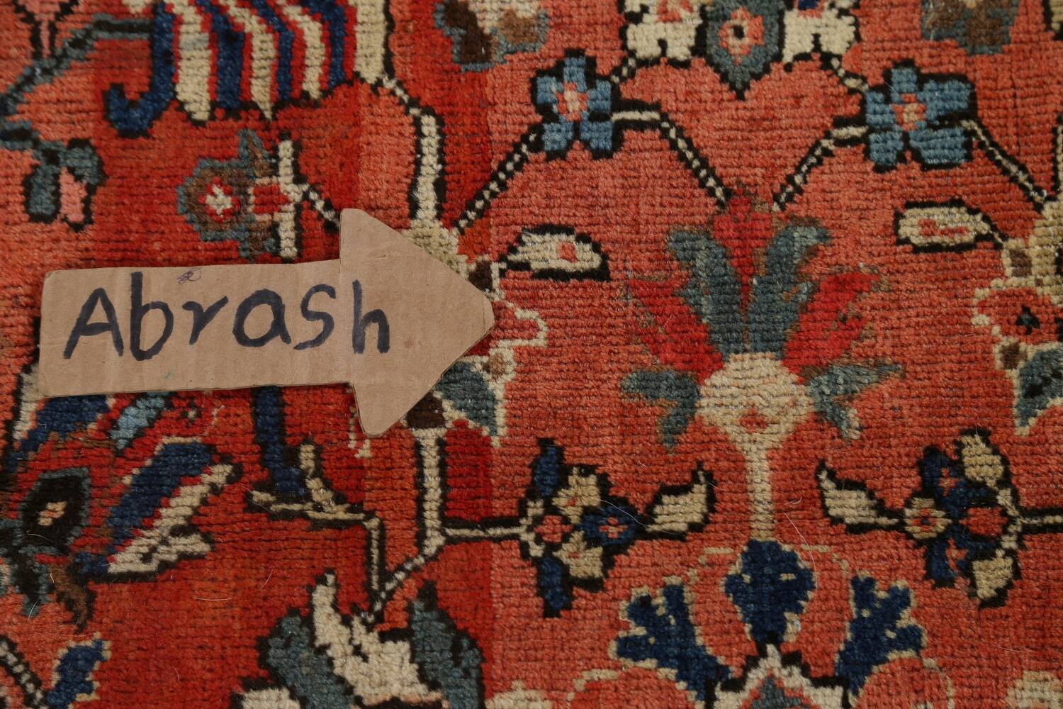 Pre-1900 Antique Vegetable Dye Sultanabad Persian Area Rug 10x14 image 13