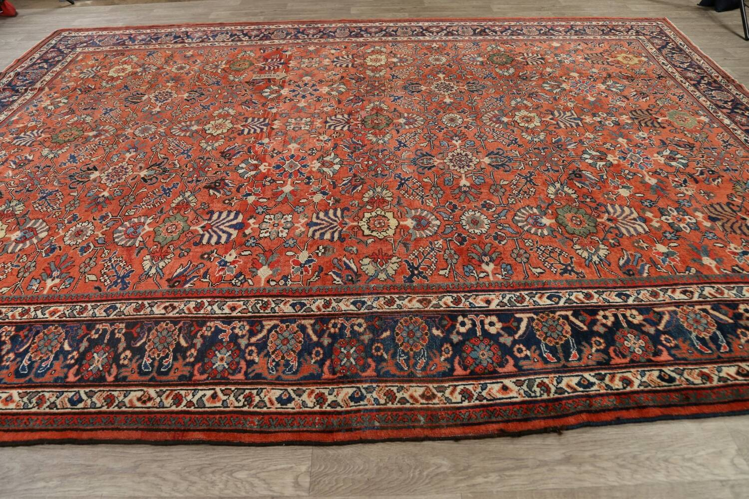Pre-1900 Antique Vegetable Dye Sultanabad Persian Area Rug 10x14 image 14