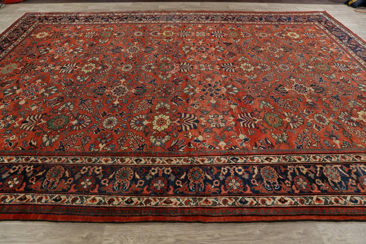 Pre-1900 Antique Vegetable Dye Sultanabad Persian Area Rug 10x14 image 16
