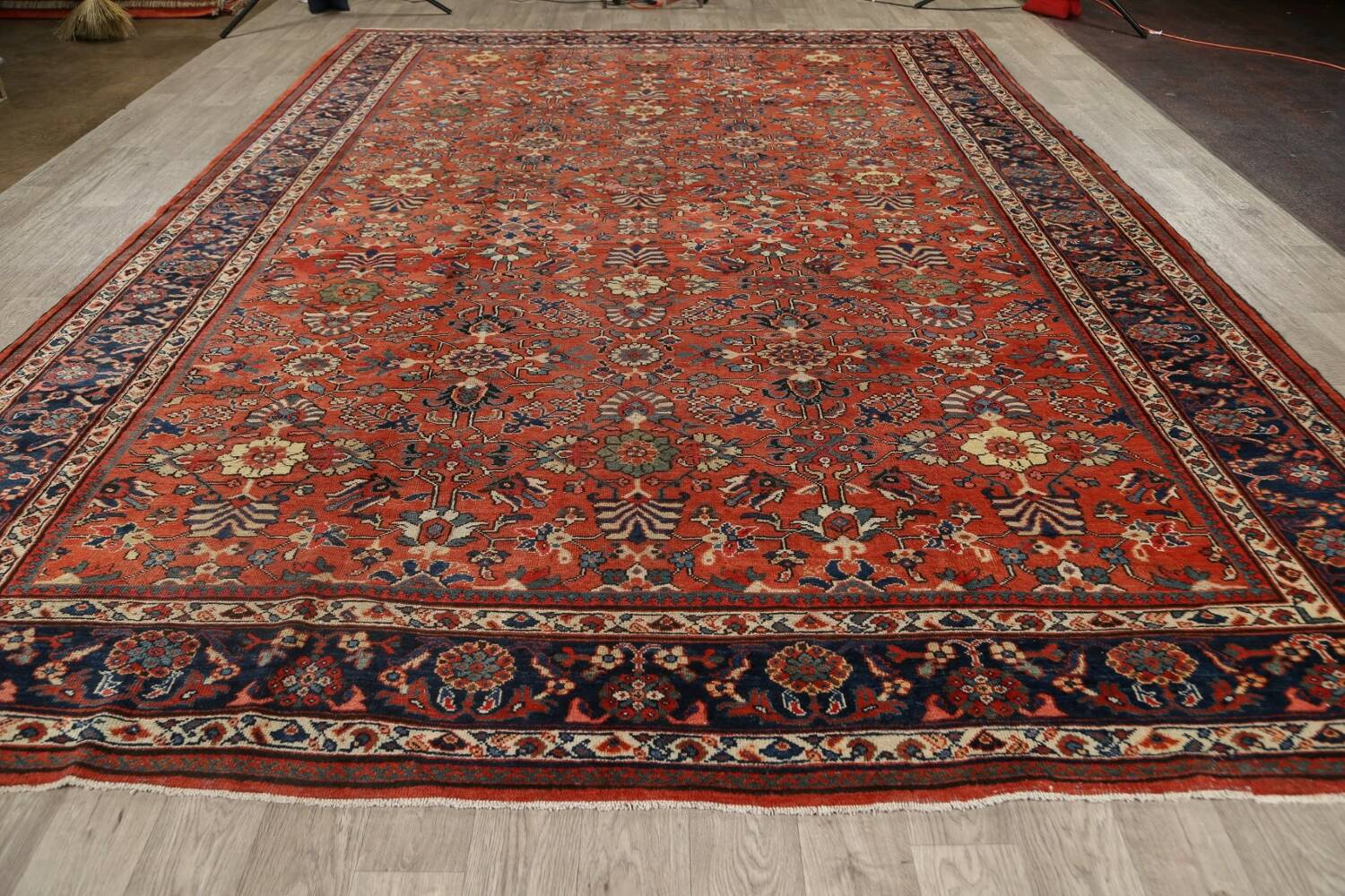 Pre-1900 Antique Vegetable Dye Sultanabad Persian Area Rug 10x14 image 17
