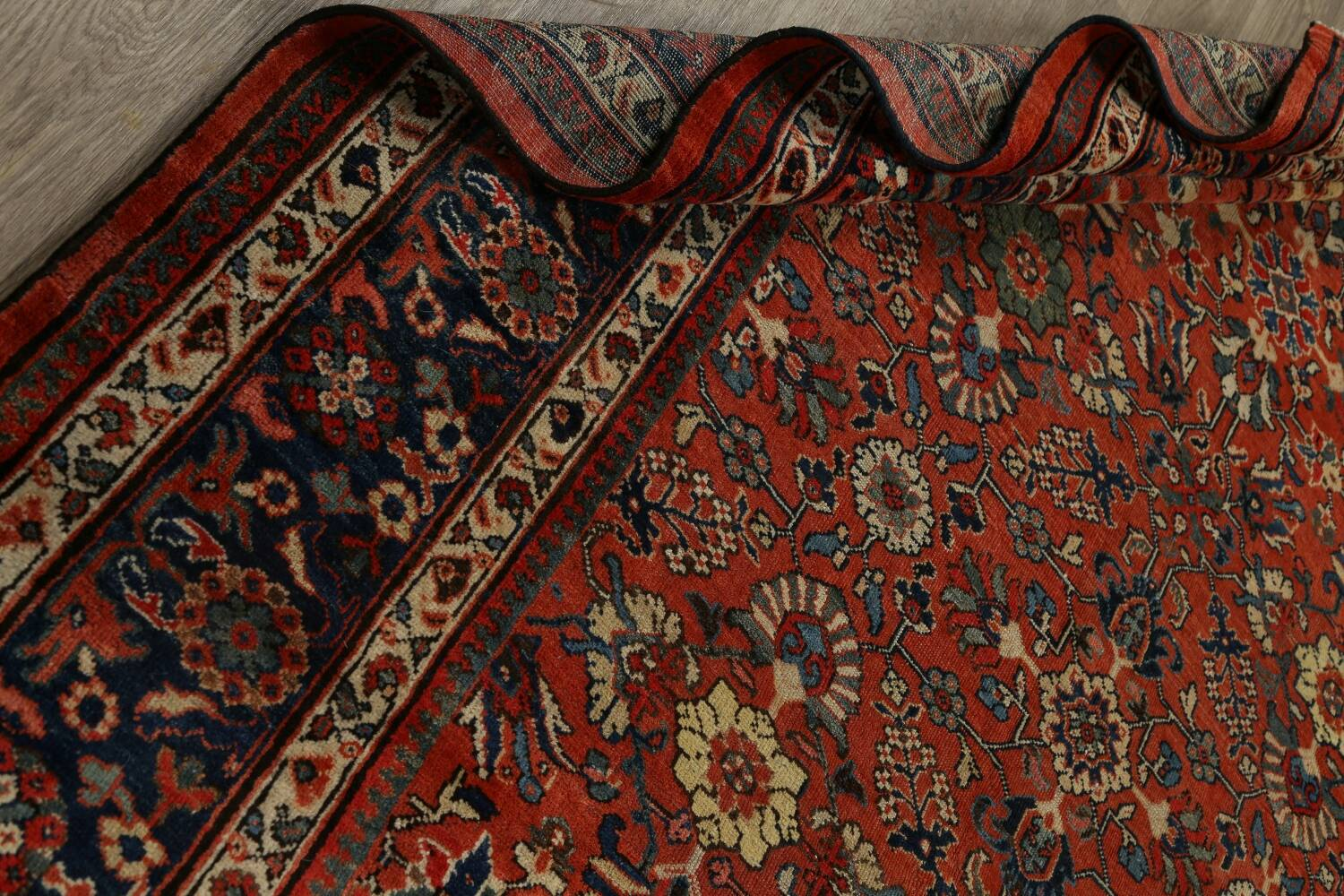 Pre-1900 Antique Vegetable Dye Sultanabad Persian Area Rug 10x14 image 19