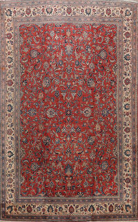 Antique Floral Mahal Persian Area Rug 10x14
